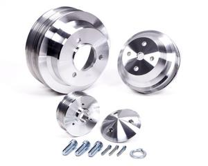 MARCH PERFORMANCE Aluminum BBC Serpentine High Water Flow Pulley Kit P/N 7330