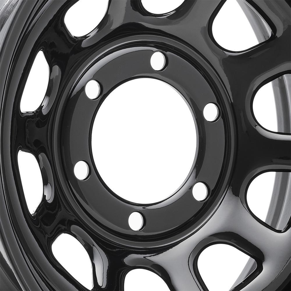 "Pro Comp Wheels-Rock Crawler Blk Wheel 15x10 Bolt Patt. 6x5.5 Back Space 3.75"""
