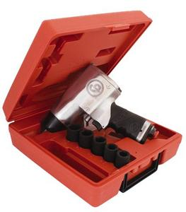"Chicago Pneumatic 1/2"" Dr Air Impact Wrench Kit, 5Pc (CPT-734HK)"