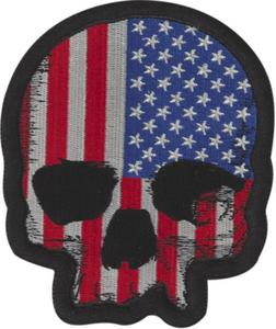 Lethal Threat MN32069 USA Skull Mini Embroidered Patch