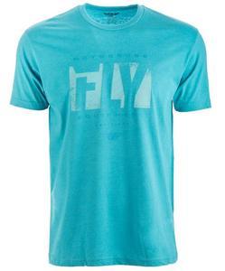 Fly Racing Riot T-Shirt Blue (Black, Medium)