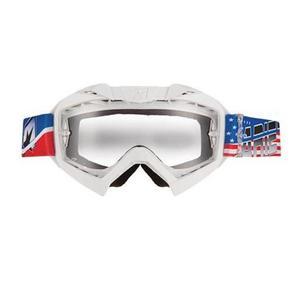 Ariete Adrenaline Senior Collection MX Goggles USA (White, OSFM)