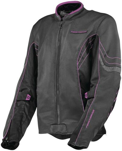 Firstgear Contour Air Womens Jacket Charcoal/Black/Pink (Gray, XX-Large)