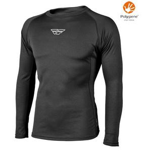 Fly Racing Lightweight Base Layer Long Sleeve Top (Black, XX-Large)