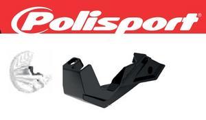 Polisport White Front Disc Brake Guard W/ Mount For Kawasaki 8151100002