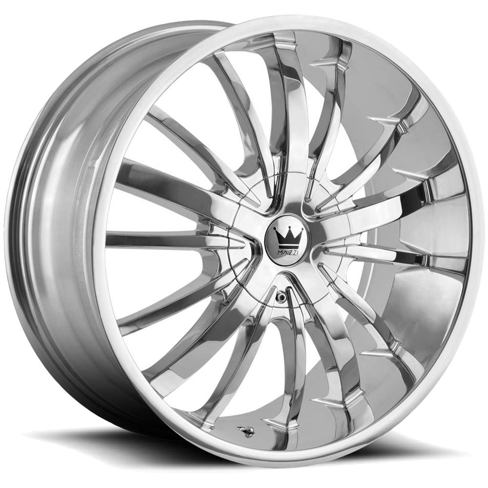 """Mazzi 364 Essence 22x9.5 5x5""""/5x5.5"""" +18mm Chrome Wheel Rim 22"""" Inch"""