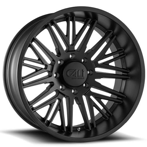 "4-Cali Off-Road 9109 Rawkon 20x10 8x180 -25mm Matte Black Wheels Rims 20"" Inch"