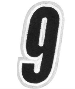 American Kargo 3550-0200 Number Patch - #9 - White/Black