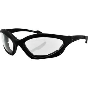 Zan Headgear Hawaii Foam Frame Sunglasses Matte Black (Clear)