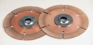 TILTON 7-1/4 in 1-5/32x26 Spline Full Circle Clutch Disc 2 pc P/N 64185-2-AA-36