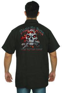 Men's Mechanic Work Shirt Dump My Ride BLACK (XL)