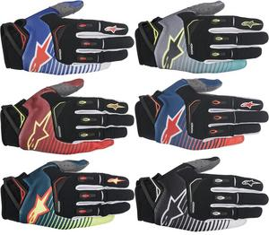 Alpinestars 2017 Techstar Moto Gloves Blue/Yellow/Red Mens Size 2XL
