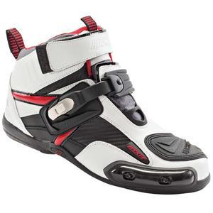 Joe Rocket Atomic Motorcycle Boots White/Red Mens Size 9