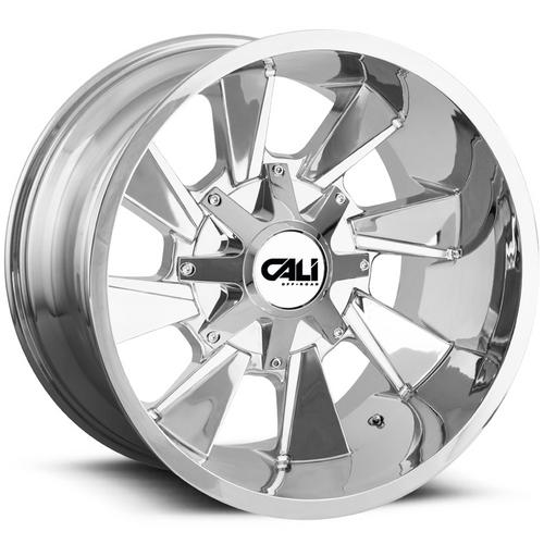 "4-Cali Off-Road 9106 Distorted 20x9 6x135/6x5.5"" +0mm Chrome Wheels Rims 20 Inch"