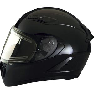 Z1R Strike Ops Solid Snow Helmet with Electric Shield (Black, Small)