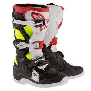 Alpinestars Tech 7S Youth Boots Black/Red/Yellow Fluo (Black, 2)