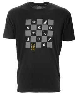 Fly Racing Checkers T-Shirt (Black, XX-Large)