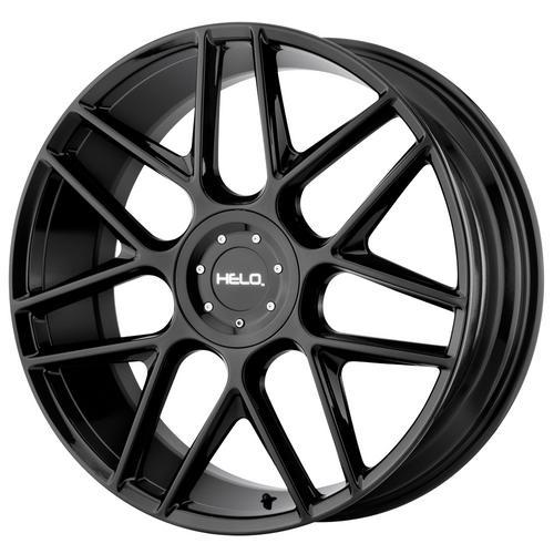 "Helo HE912 17x7.5 5x112/5x120 +38mm Gloss Black Wheel Rim 17"" Inch"