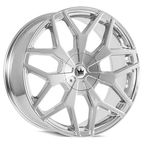 "Mazzi 367 Profile 22x9.5 6x135/6x5.5"" +30mm Chrome Wheel Rim 22"" Inch"