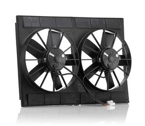 Be-Cool Electric Cooling Fan Dual 11 in Puller 2720 CFM P/N 75007