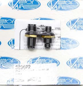 VINTAGE AIR Black Anodize Aluminum 2 Port Streamline Bulkhead Plate P/N 389602