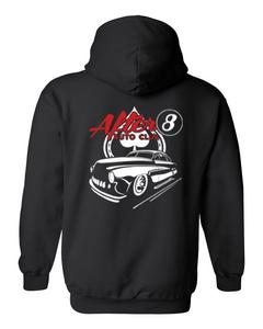 Men's/Unisex Zip-Up Hoodie Cool After 8 Hot Rod Auto Club BLACK ( 4XL)