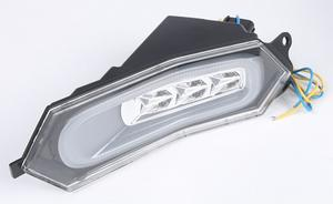 DMP Motorcycle Powergrid Integrated LED Tail Light Clear 905-6749
