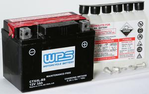 WPS Maintenance Free Sealed AGM Motorcycle Battery CTX4L-BS