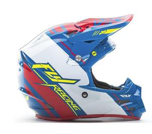 Fly Racing F2 Carbon MIPS Canard Replica Helmet Blue/White/Red (Blue, XX-Large)