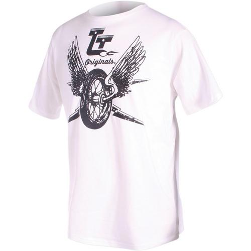 Throttle Threads Tirewheel T-Shirt (White, Medium)