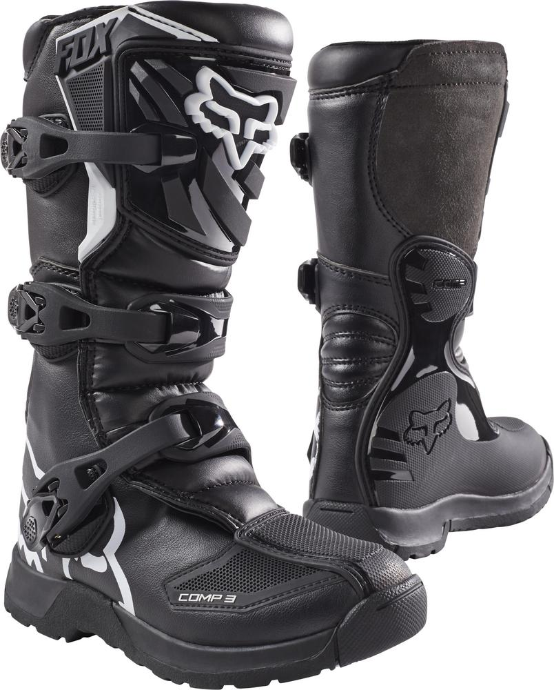 Fox Comp 3 Youth Boots (Black, 3)