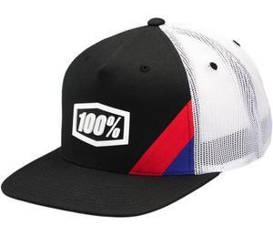 100% Cornerstone Youth Trucker Hat (Black, OSFM)