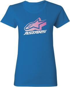 Alpinestars Womens Crown T-Shirt Blue Tee Shirt Medium
