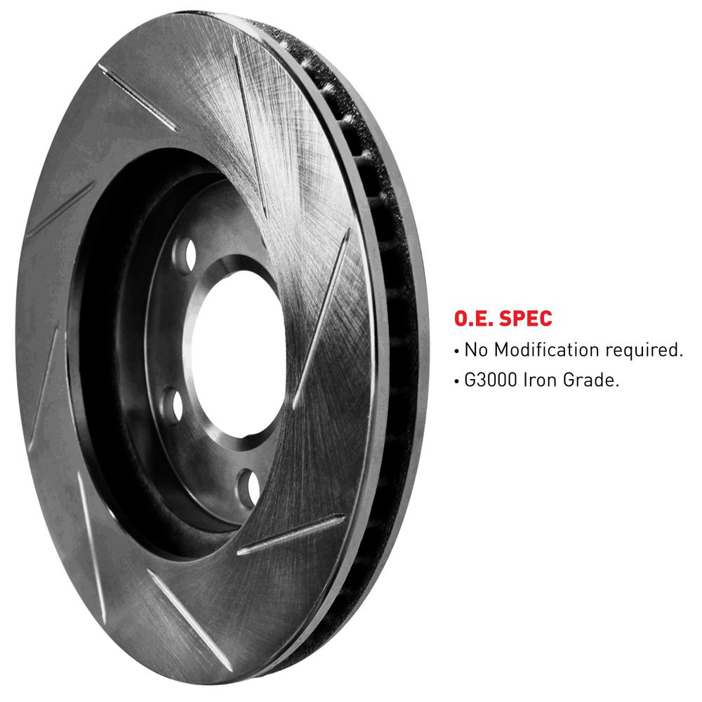 [FRONT+REAR] ELINE Black Edition Slotted  Brake ROTORS DISC CBS.65117.01
