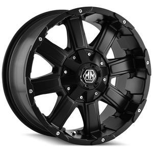 "4-Mayhem 8030 Chaos 20x12 8x180 -44mm Matte Black Wheels Rims 20"" Inch"