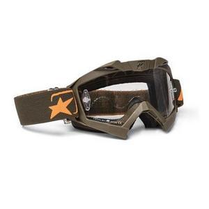 Ariete Adrenaline Senior Collection MX Goggles Green/Orange (Green, OSFM)