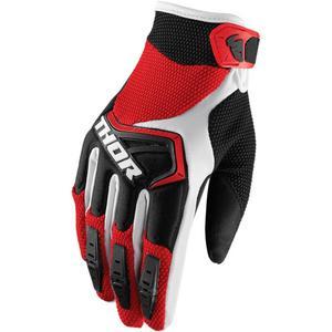 Thor Spectrum Gloves Red/Black/White (Red, XX-Large)