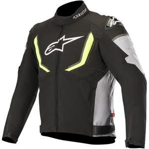 Alpinestars T-GP R V2 Drystar Jacket Black/Gray/Yellow Fluo (Black, X-Large)