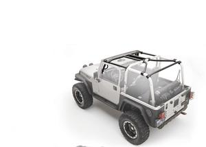 Smittybilt 76903 SRC Cage Kit For 10-18 Wrangler JK 7 pc. Gloss Black