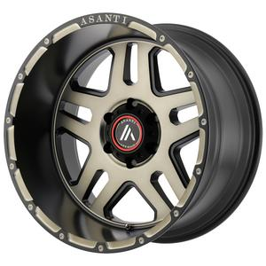 "4-Asanti AB809 Enforcer 22x10 5x5.5"" -18mm Black/Tint Wheels Rims 22"" Inch"
