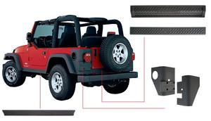 Bushwacker 14902 TrailArmor Body Panel Kit Fits 97-06 Wrangler (TJ)