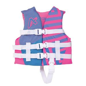 Airhead Trend Closed Side Girls Life Vest (Pink, 30-50 Lbs.)
