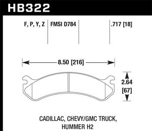 Hawk Performance HB322Z.717 Disc Brake Pad