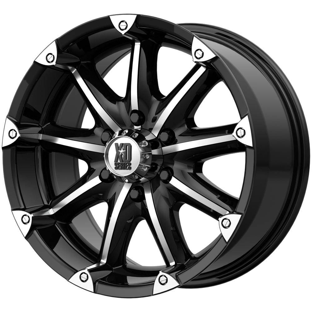 "4-XD Series XD779 Badlands 18x9 6x5.5"" +18mm Black/Machined Wheels Rims 18"" Inch"