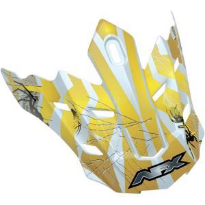 AFX 0132-0725 Helmet Peak for FX-17Y (13 Models) - Trap Multi Yellow