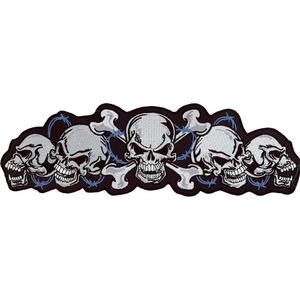 Lethal Threat LT30018 String of Skulls Embroidered Patch