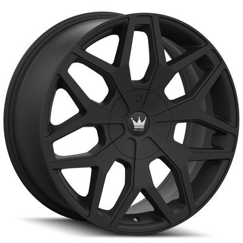 "4-Mazzi 367 Profile 24x9.5 5x5""/5x5.5"" +18mm Matte Black Wheels Rims 24"" Inch"