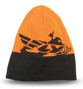 Fly Racing Adult Beanie Hat Snowmobile Black/Orange