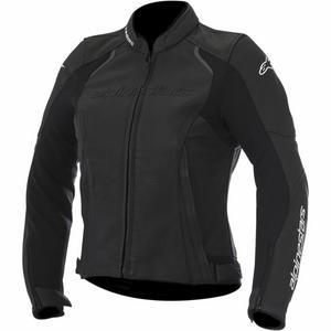 Alpinestars Stella Devon Airflow Womens Leather Jacket (Black, 4)