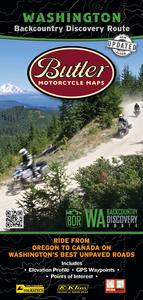 Butler Maps WABDR Backcountry Discovery Routes Map - Washington State